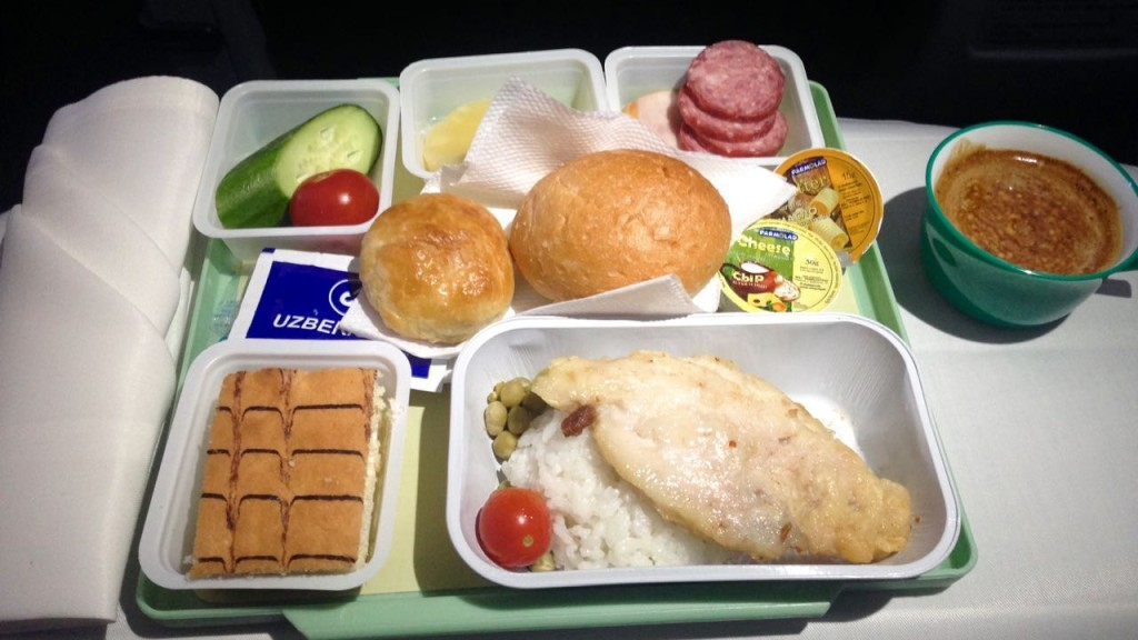 Happy Meal in Uzbeksitan Airways, Bussinesclass