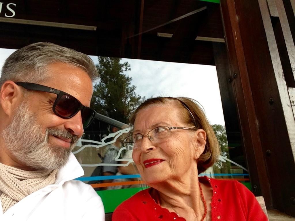 With Mum, in Villa General Belgrano, Córdoba province, Nov 2015