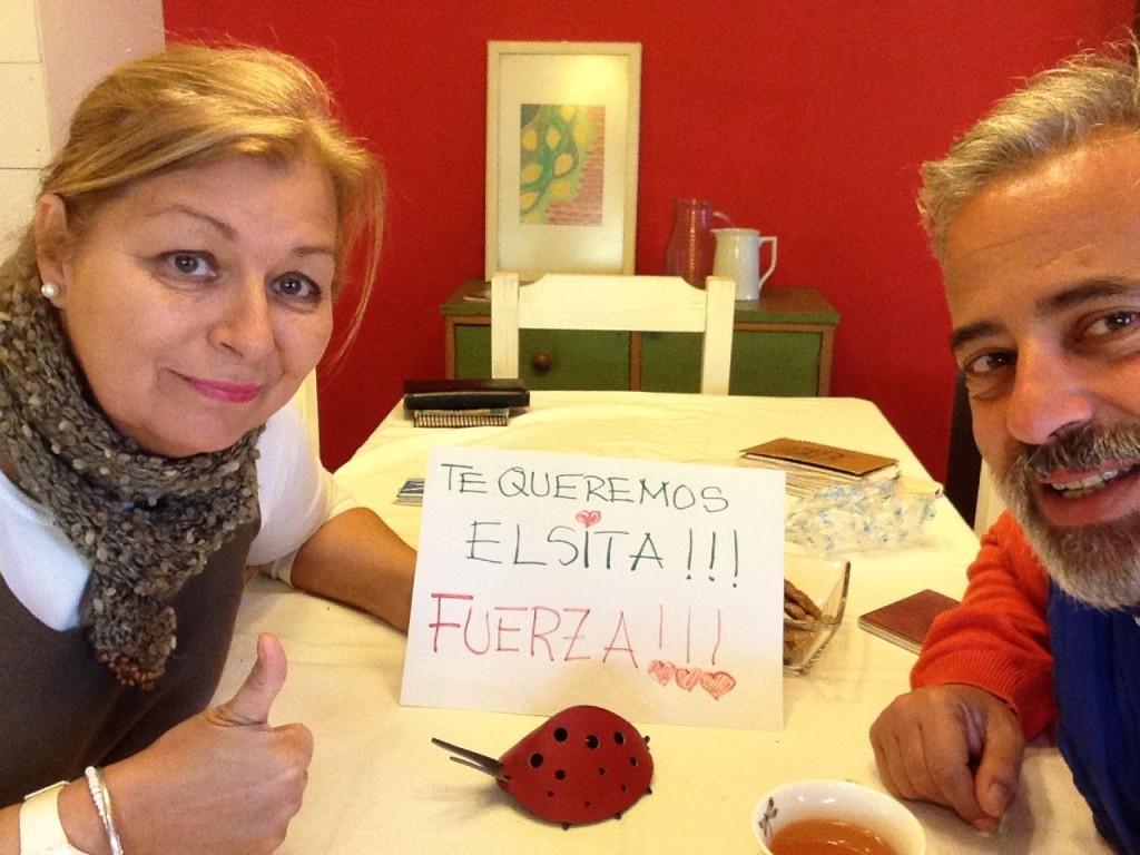 With my loved sister Fabiana, at her home, in El Calafate, Santa Cruz, Patagonia, Argentina
